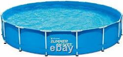 Summer Waves 15ft x 33in Metal Frame Swimming Pool W Filter Pump SHIPS FAST