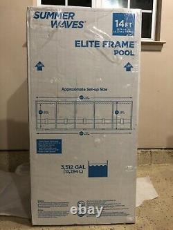 Summer Waves Elite 14'x42 Frame Pool with Filter Pump System FREE AND FAST SHIP