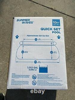 Summer Waves Quick Set 10FT Pool With Pump & Filter 10X30 Brand New FAST SHIPPING